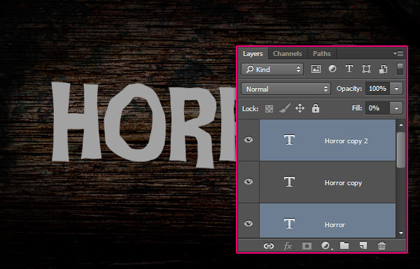 Create a Rusty Horror Text Effect 9