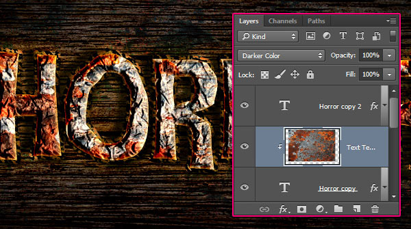 Create a Rusty Horror Text Effect 30