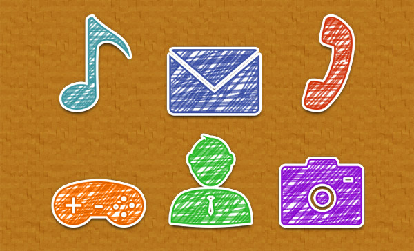 Create a Set of Hand Drawn Icons Using Adobe Photoshop