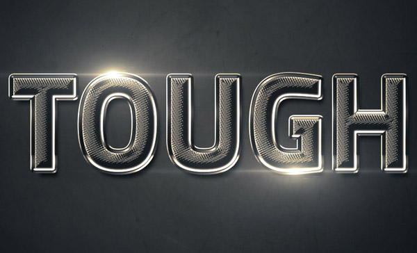 Create a Shiny Textured Chrome Text Effect in Photoshop