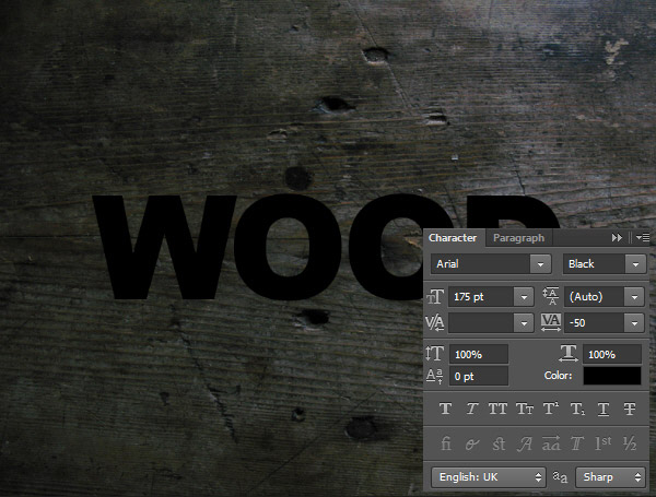 Create a Wood Text effect in Photoshop 4