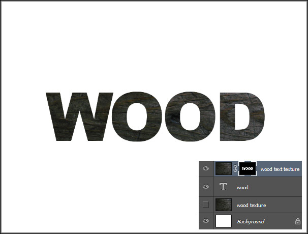 Create a Wood Text effect in Photoshop 6