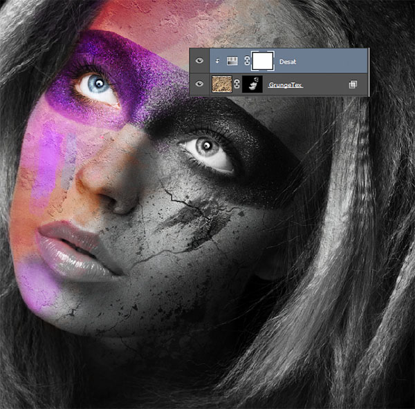 Create a wild looking colored face 11