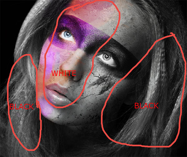 Create a wild looking colored face 12
