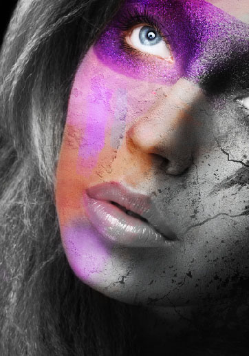 Create a wild looking colored face 13