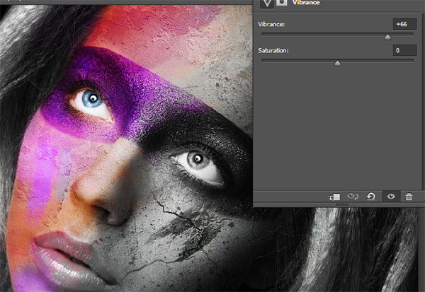 Create a wild looking colored face 15