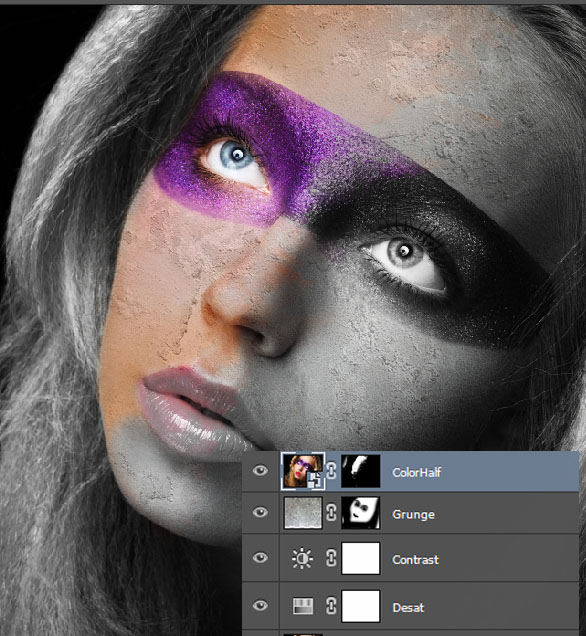 Create a wild looking colored face 6