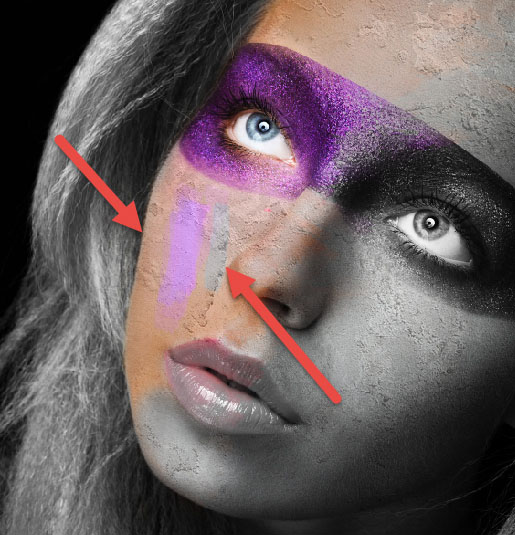 Create a wild looking colored face 7