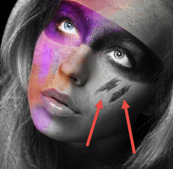 Create a wild looking colored face 9