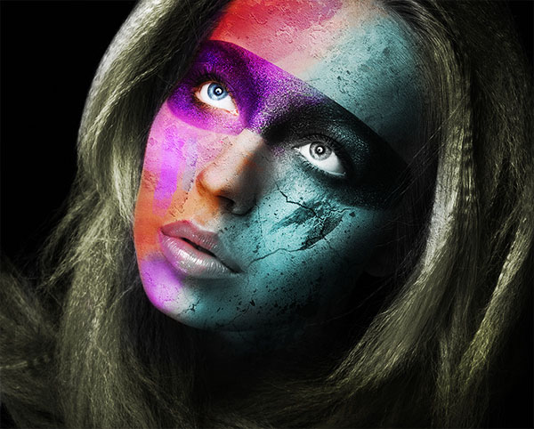 Create a wild looking colored face