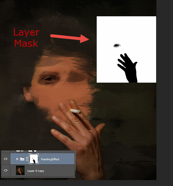 Create a smoking painting effect 10