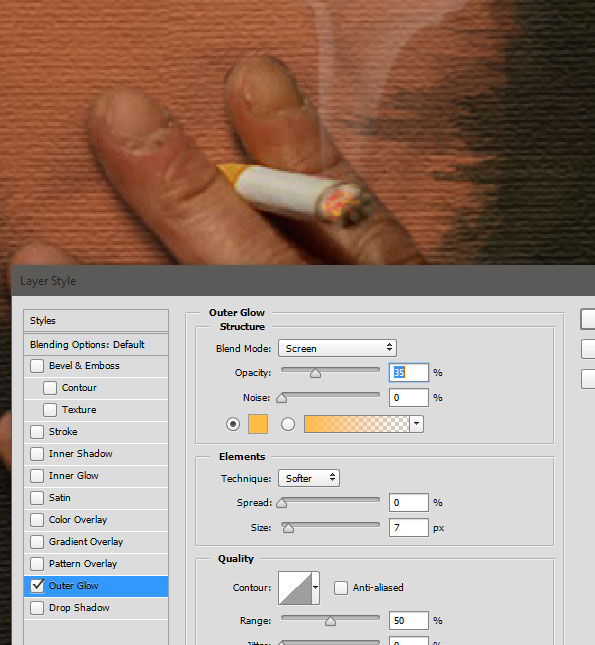 Create a smoking painting effect 16