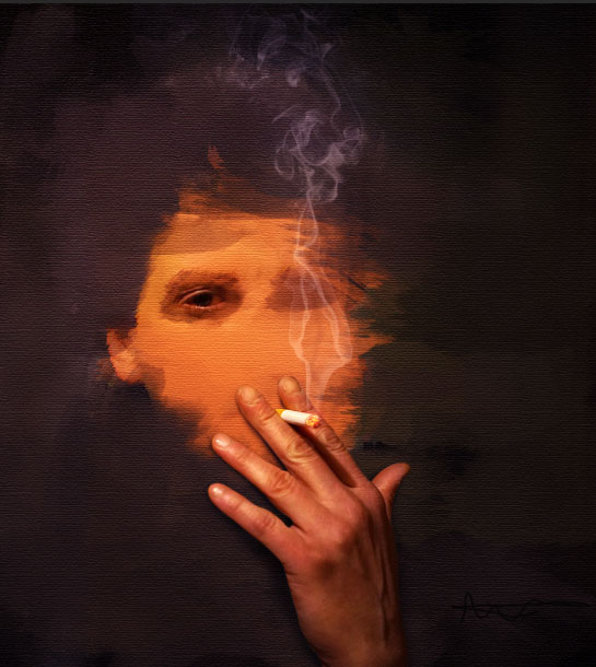 Create a smoking painting effect 17