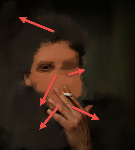 Create a smoking painting effect 6