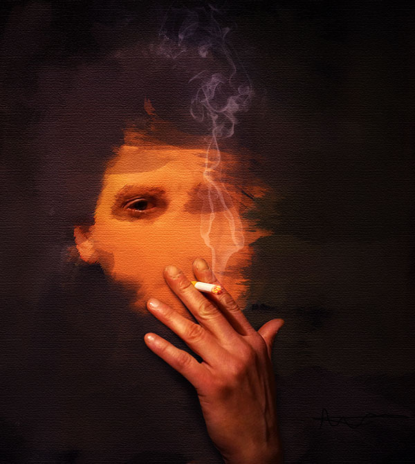 create a smoking painting effect in photoshop