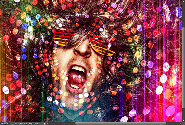 Create a crazy disco effect with Photoshop 10