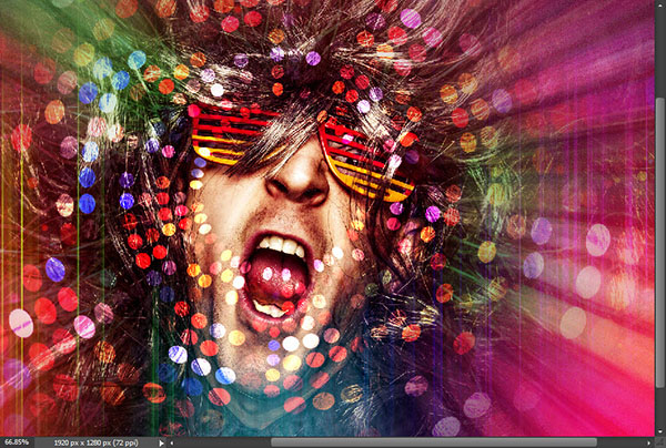 Create a crazy disco effect with Photoshop 12