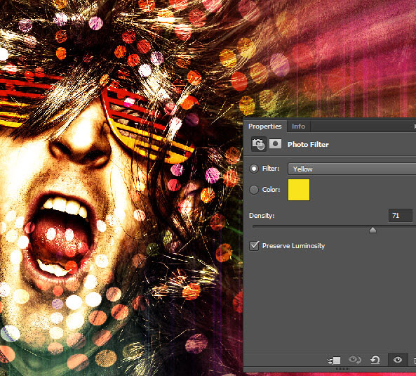 Create a crazy disco effect with Photoshop 15