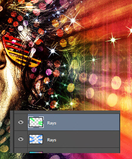 Create a crazy disco effect with Photoshop 21