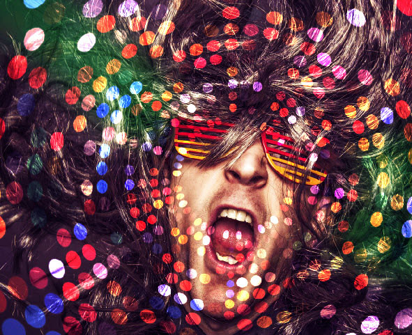 Create a crazy disco effect with Photoshop 4