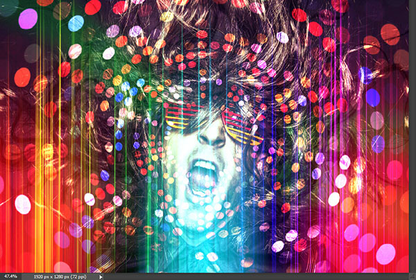 Create a crazy disco effect with Photoshop 5