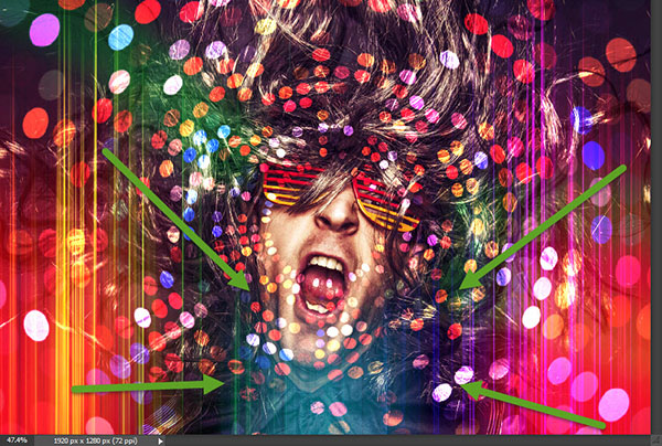 Create a crazy disco effect with Photoshop 6