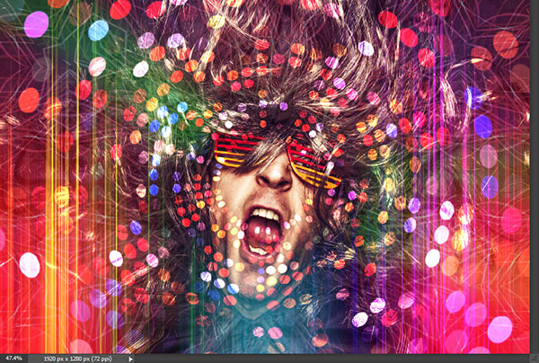 Create a crazy disco effect with Photoshop 7
