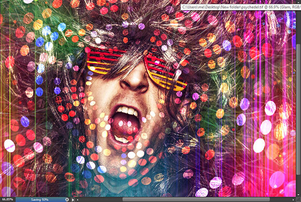 Create a crazy disco effect with Photoshop 9
