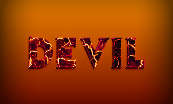 #Create a Devilish 3D Text Effect