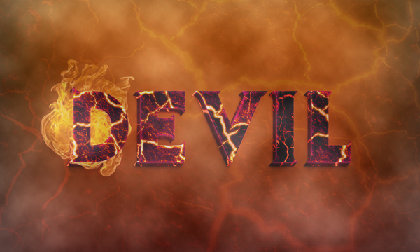 Create a Devilish 3D Text Effect