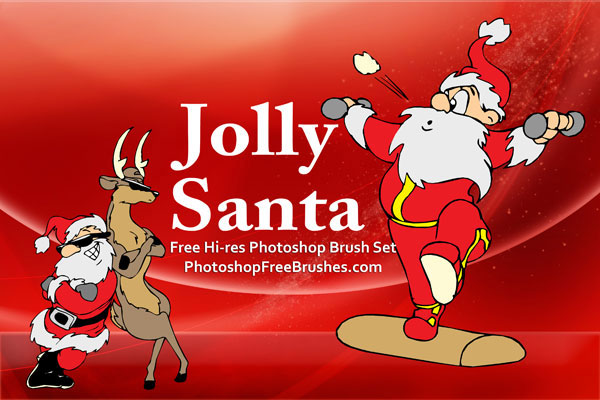15 Santa Pictures PS Brushes