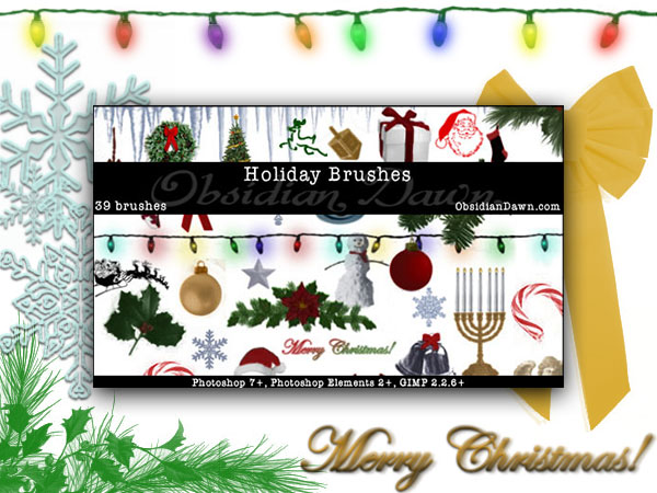Holiday Brushes