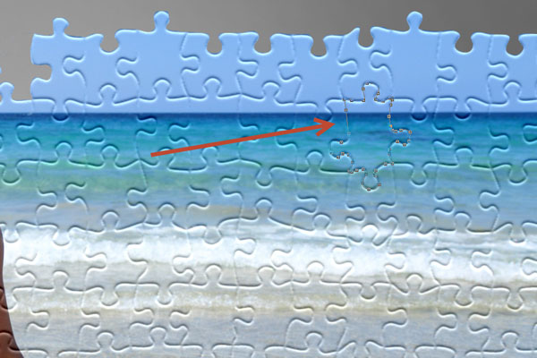 Learn How to Create Jigsaw Puzzle Effect in Photoshop 14