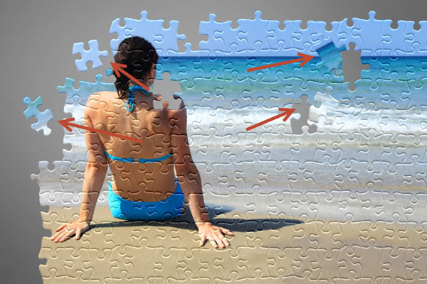 Learn How to Create Jigsaw Puzzle Effect in Photoshop 20