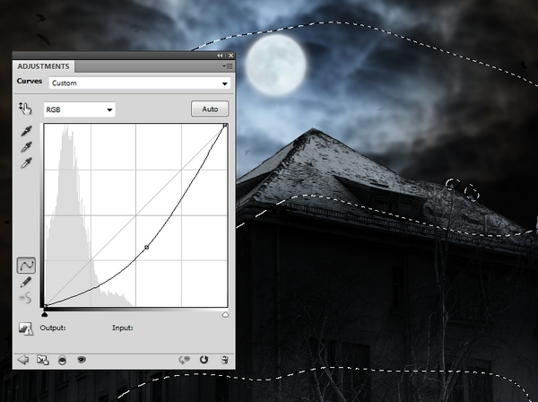 Create a Haunted House Scene with Photoshop 17