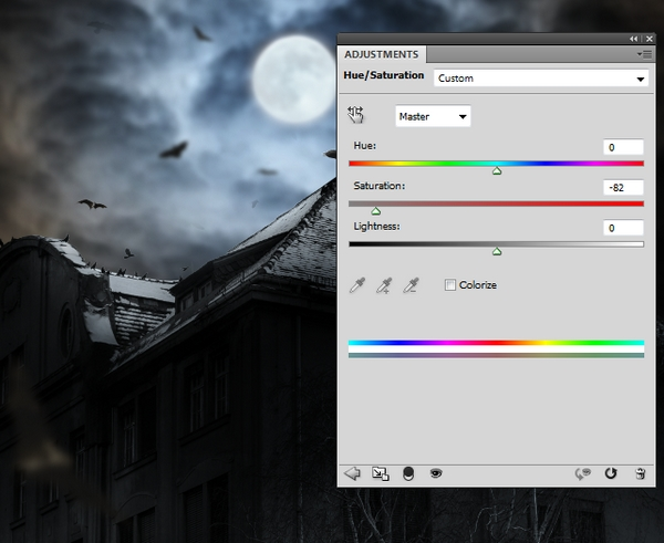 Create a Haunted House Scene with Photoshop 32