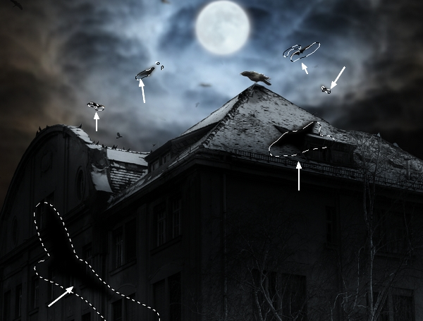 Create a Haunted House Scene with Photoshop 36
