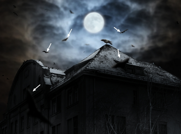 Create a Haunted House Scene with Photoshop 38