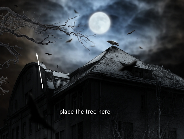 Create a Haunted House Scene with Photoshop 39