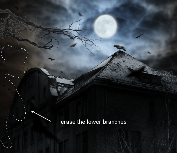 Create a Haunted House Scene with Photoshop 40
