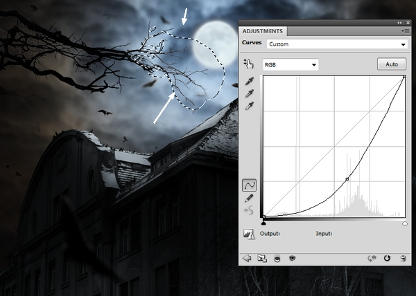 Create a Haunted House Scene with Photoshop 41