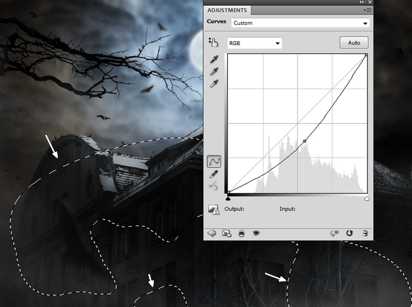 Create a Haunted House Scene with Photoshop 44