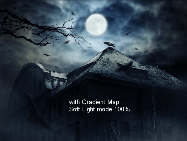 Create a Haunted House Scene with Photoshop 46