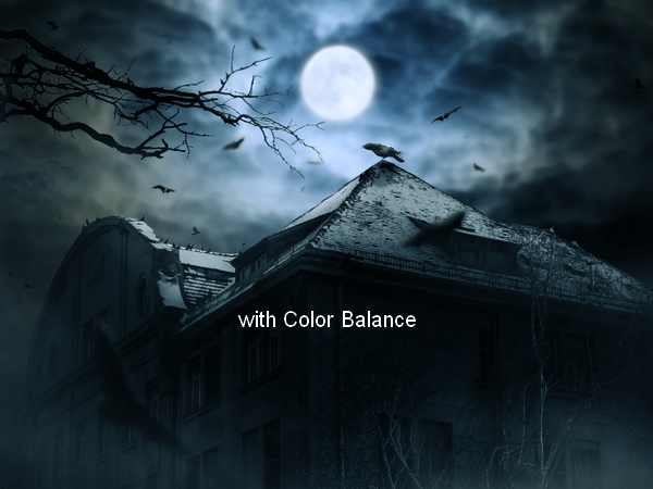 Create a Haunted House Scene with Photoshop 48