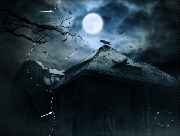 Create a Haunted House Scene with Photoshop 50