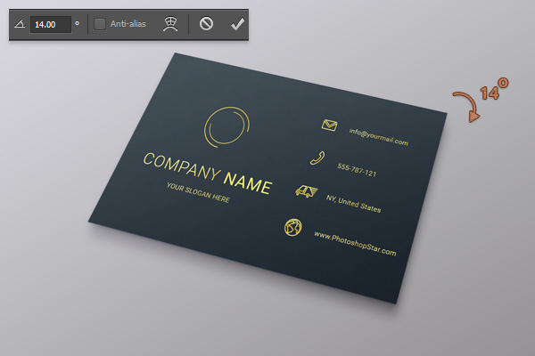 How to Make a Business Card in Photoshop 26