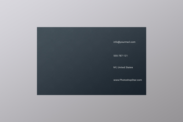 How to Make a Business Card in Photoshop 9