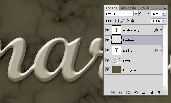 Create a Marble Text Effect in Adobe Photoshop 10