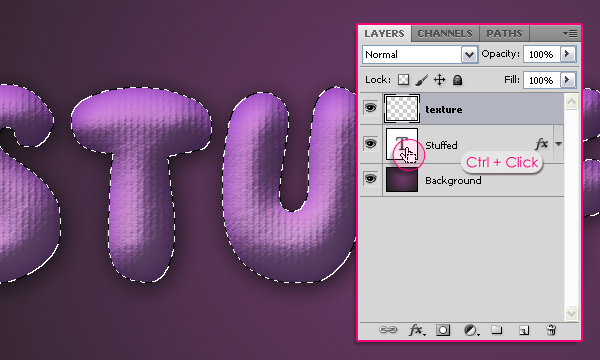 How to Create Stuffed Text Effect in Photoshop 11