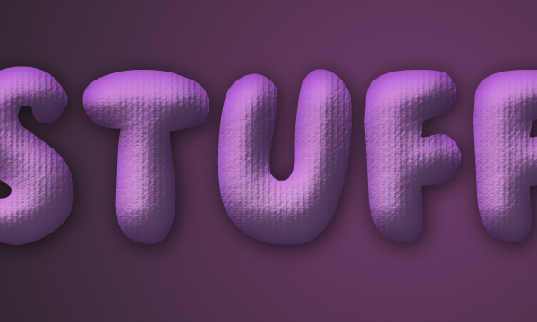 How to Create Stuffed Text Effect in Photoshop 9